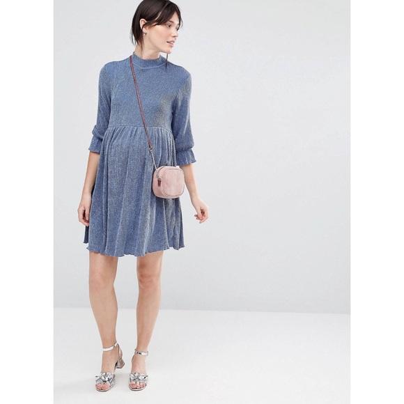 025acfc018f18 ASOS Maternity Dresses | Smock Dress In Denim Texture | Poshmark